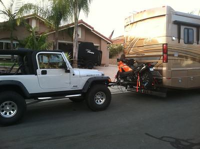 towing wrangler behind motorhome jeep wrangler forum